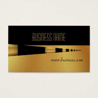 Business Profile Card Yellow Gold Pen Black