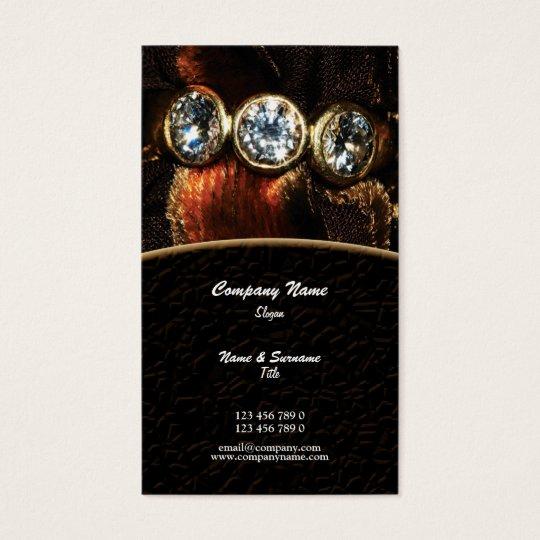 Business profile jeweller jewelery diamond custom business card