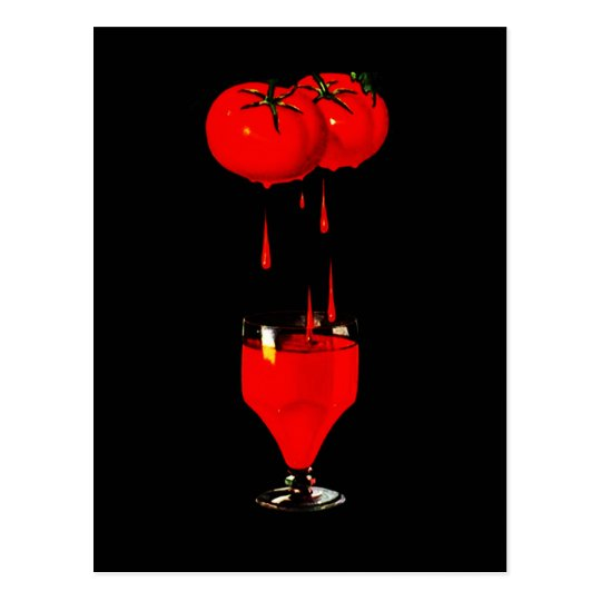 BUSINESS PROMO BLOODY MARY TOMATO JUICE POSTCARD