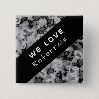 Business Promotional Referral - Black Marble 15 Cm Square Badge