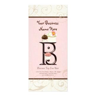 Business Rate Card - Letter B Monogram Dessert Bak