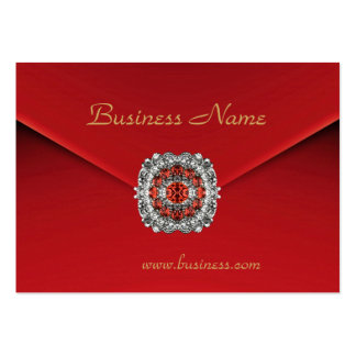 Business Red Velvet Diamond Images Pack Of Chubby Business Cards