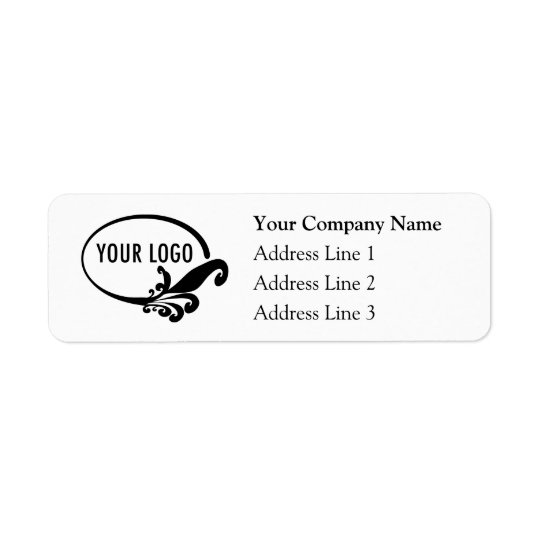 Business Return Address Labels with Custom Logo