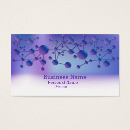 Business Science Laboratory Elegant Modern Business Card