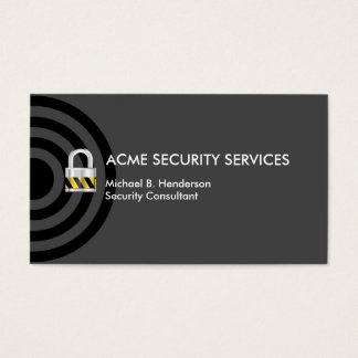 Business Security Business Card