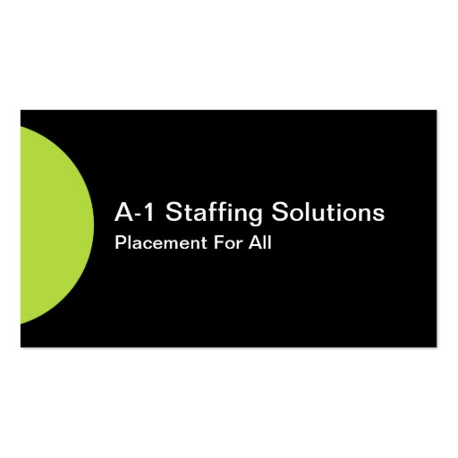 Business Staffing Business Card