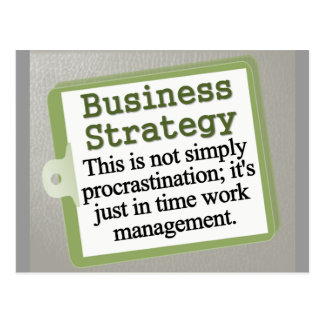 Business Strategy  Postcard
