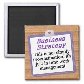 Business Strategy Square Magnet