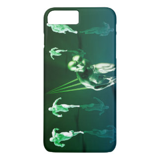 Business Technology Concept on Worldwide Report iPhone 7 Plus Case