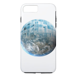 Business Technology Global Network with Futuristic iPhone 7 Plus Case