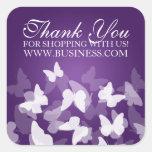 Business Thank You Butterflies Purple