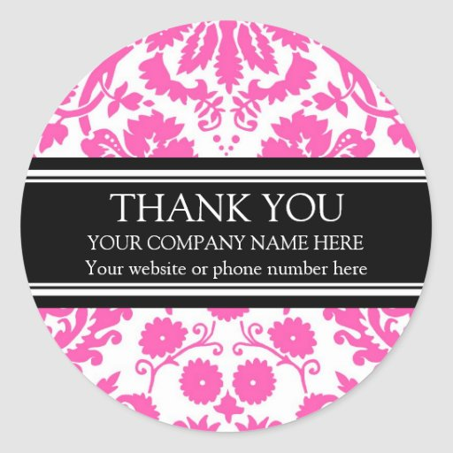 Business Thank You Custom Company Name Stickers