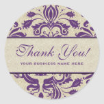 Business Thank You Customised Stickers Purple