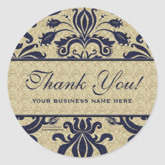 Business Thank You Customized Stickers Blue