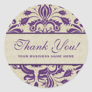 Business Thank You Customized Stickers Purple