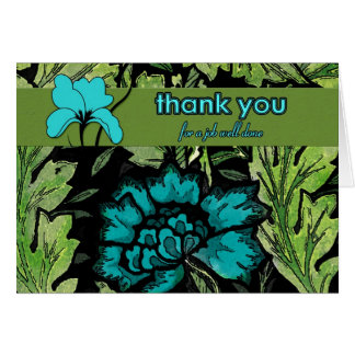 Business Thank You Job Well Done Greeting Card