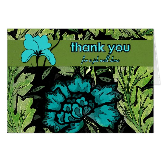 Business Thank You Job Well Done Card
