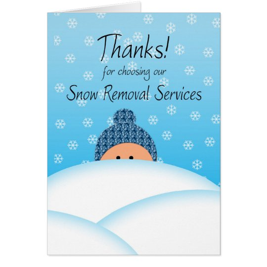 Business Thanks Customer Snow Plough services Card
