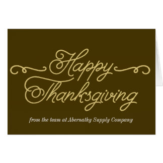 Business Thanksgiving Cards - Gold Thanksgiving