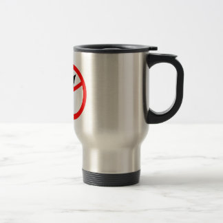 Business Tie in a Banned Sign Travel Mug