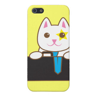 Business time Walnut cat Case For The iPhone 5