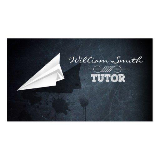 Business tutor card business cards