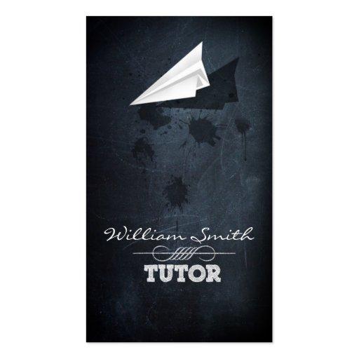Business tutor card business card template