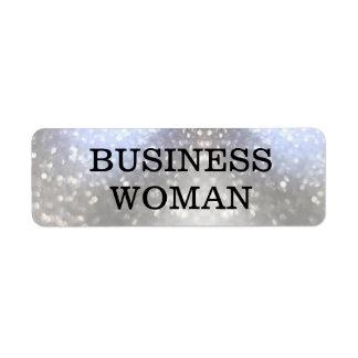Business Woman Return Address Label