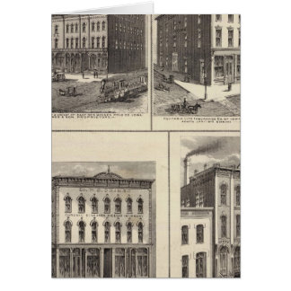 Businesses in East Des Moines and Des Moines, Iowa Greeting Card