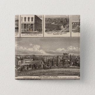 Businesses, residences, Cedar County 15 Cm Square Badge