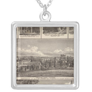Businesses, residences, Cedar County Silver Plated Necklace
