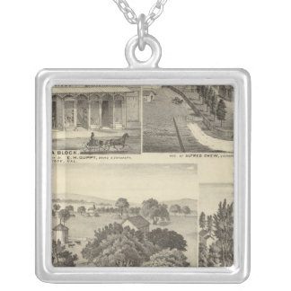 Businesses, residences, San Jose, Mtn View Silver Plated Necklace