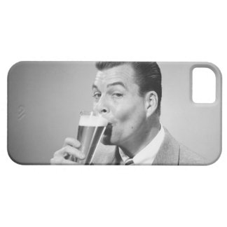 Businessman Drinking Beer Case For The iPhone 5