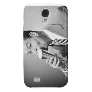 Businessman Drinking Beer Galaxy S4 Case