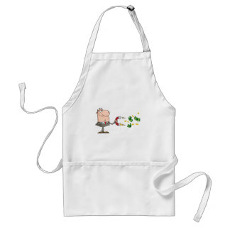 Businessman Using A Magnet To Attracts Money Standard Apron
