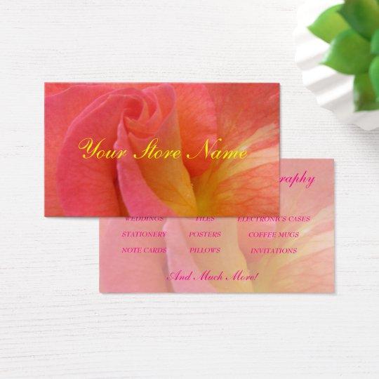 "Businesss Card--""Mardi Gras"" Rose Business Card"