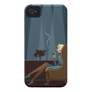 Businesswoman Smoking Cigar iPhone 4 Case-Mate Cases