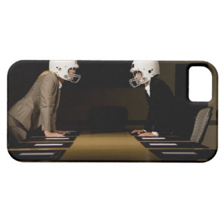 Businesswomen in face-off wearing football iPhone 5 cover