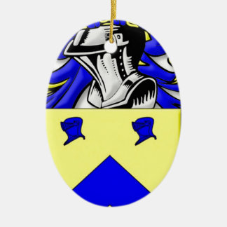 busken Coat of Arms Double-Sided Oval Ceramic Christmas Ornament