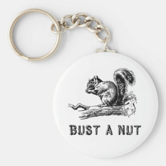 Bust a nut basic round button key ring