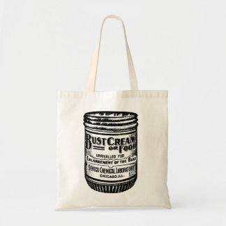 Bust Cream Retro Vintage Ad Budget Tote Bag