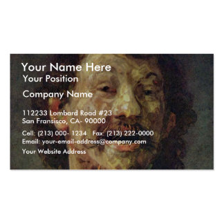 Bust Of A Laughing Man In.,  By Rembrandt Pack Of Standard Business Cards