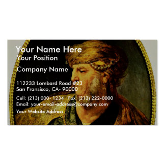 Bust Of A Man In Oriental Dress By Rembrandt Van Business Cards