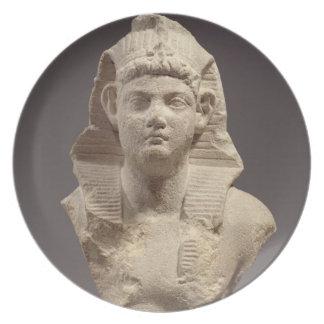 Bust of a Roman Emperor as a pharaoh (marble) Plates