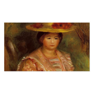 Bust of a Woman (Gabrielle) by Pierre Renoir Double-Sided Standard Business Cards (Pack Of 100)