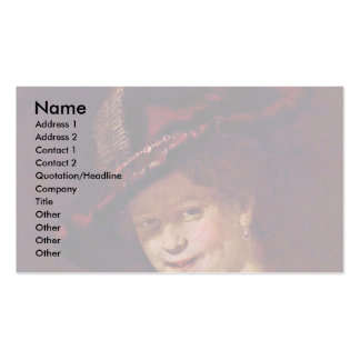Bust Of A Young Woman Smiling Possibly Saskia Van Double-Sided Standard Business Cards (Pack Of 100)