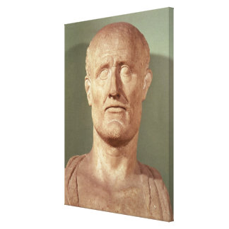 Bust of Alcibiades Canvas Print