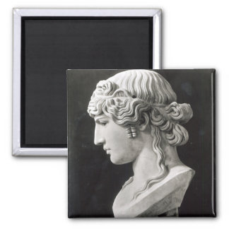 Bust of Antinous  called 'Antinous Mondragone' Square Magnet
