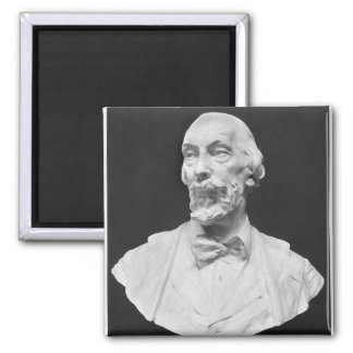 Bust of Auguste Vacquerie Square Magnet