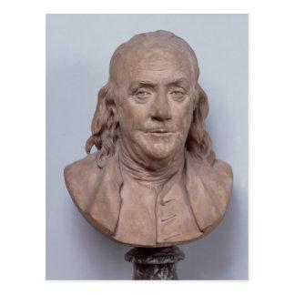 Bust of Benjamin Franklin  1778 Postcard